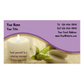 Massage-Geschäft Card_1 Visitenkarten