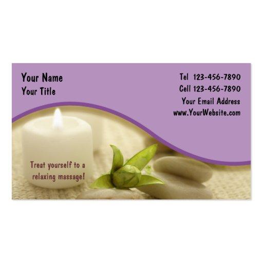 Massage-Geschäft Card_1 Visitenkartenvorlage