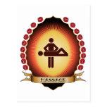 Massage Mandorla Postkarte