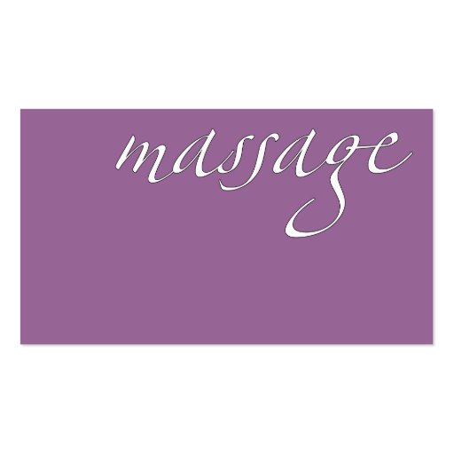 Massage: Massage-Therapeut Visitenkartenvorlagen