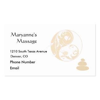 Massage-Steine und verschönertes Yin und Yang Visitenkarten