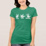 Massage-T - Shirt: Frieden, Liebe, massieren Weiß