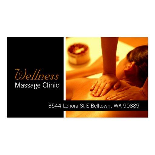 Massage-Therapeut, Klinik, Wellness-Visitenkarte