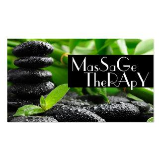 Massage-Therapeut-Klinikwellness-Gesundheit Visitenkartenvorlage
