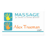 Massage-Therapeut-Visitenkarte