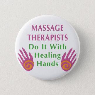 Massage-Therapeuten tun es mit den heilenden Runder Button 5,7 Cm