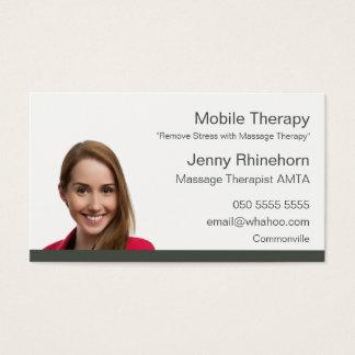 Massage-Therapie 2 versah Porträt-Namenskarte mit Visitenkarte