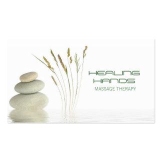 Massage-Therapie-heilende Visitenkarten Vorlage