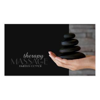 Massage-Therapie-Schwarz-heilende Visitenkarten