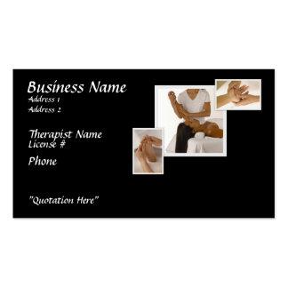 Massage-Therapie-Visitenkarte, schwarzer Visitenkarten