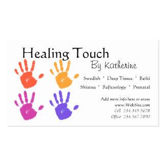 Massage-Therapie-Visitenkarte Visitenkarten