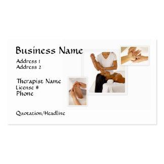 Massage-Therapie-Visitenkarte, weißer Hintergrund Visitenkarten