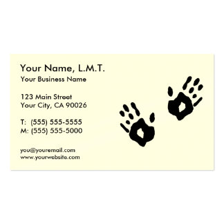 Massage-Therapie-Visitenkarten