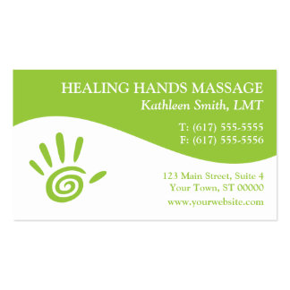 Massage-Therapie-Visitenkarten Visitenkarten