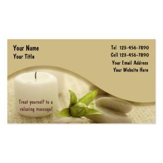 Massage-Visitenkarte