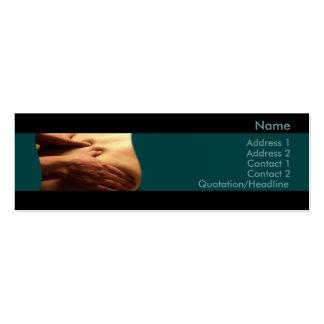 Massage-Visitenkarte Mini-Visitenkarten