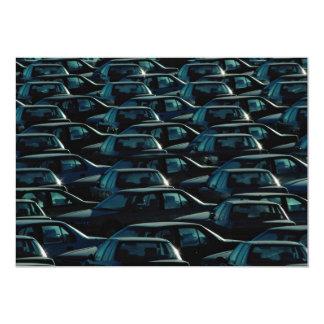 Masse der importierten Autos im Speicherdepot, 12,7 X 17,8 Cm Einladungskarte