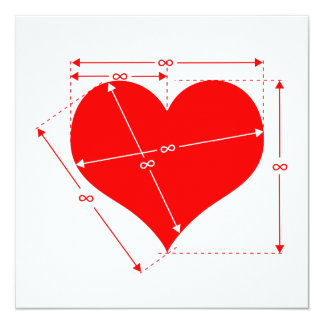 Maße der Liebe Quadratische 13,3 Cm Einladungskarte