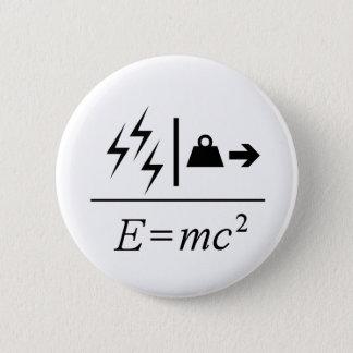 Masse-Energie Gleichwertigkeit Runder Button 5,1 Cm