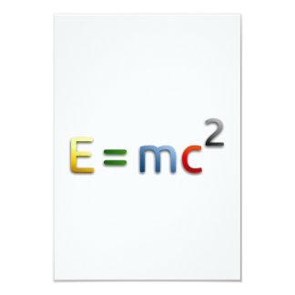 Masse-Energie Gleichwertigkeits-Formel Personalisierte Ankündigung
