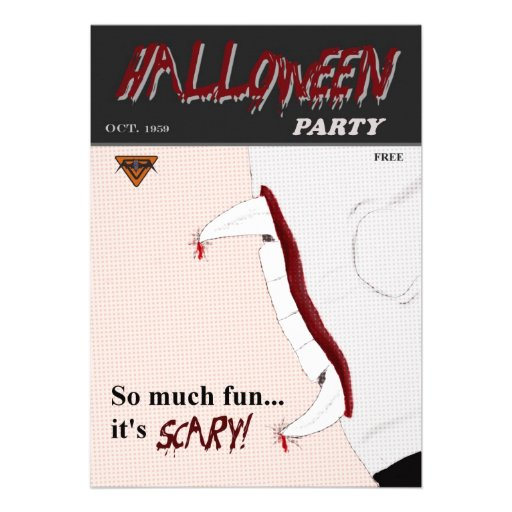 Massen-Comic-Buch-Halloween-Party-Einladung
