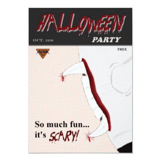 Massen-Comic-Buch-Halloween-Party-Einladung 12,7 X 17,8 Cm Einladungskarte