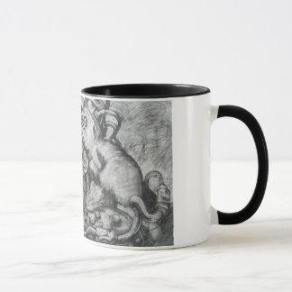 Massenära Schwarz-Vogel-Kaffee-Tasse Tasse
