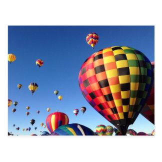 Massenbesteigungs-Ballone Postkarte