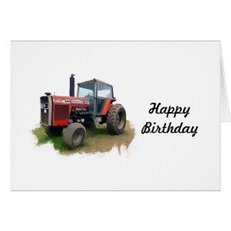 Massey Ferguson roter Traktor auf dem Gebiet Karte
