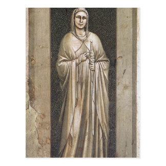 Mäßigkeit durch Giotto Postkarte