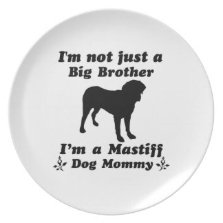 Mastiff Hundemama Melaminteller