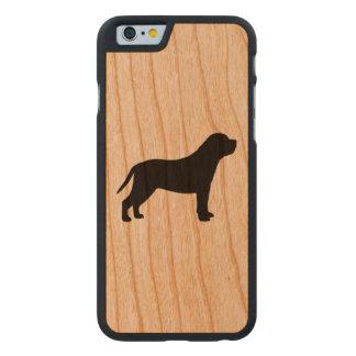 Mastiff-Silhouette Carved® iPhone 6 Hülle Kirsche