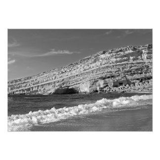 Matala - die Sonne, das Meer und die Höhlen Fotodruck
