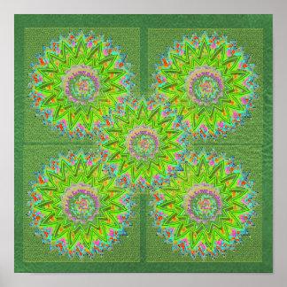 Match-Dekor-Schein-Drucke: Smaragdgrün Poster