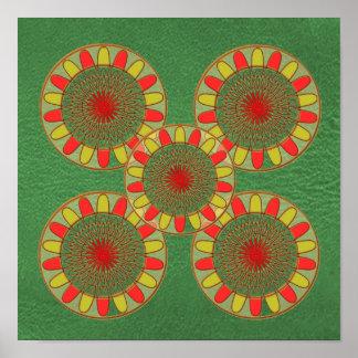 Match-Dekor-Schein-Drucke: Sonnenblume-Grafiken Poster