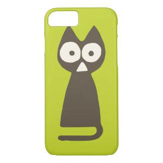 Matcha grüne Brown Dreieck-Katze iPhone 8/7 Hülle