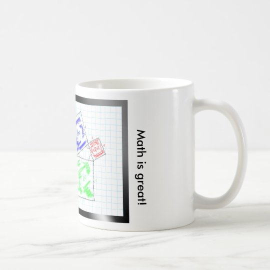 Math is great! - The theorem of Pythagoras Kaffeetasse