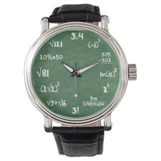 Mathe-Aussenseiter-Armbanduhr Armbanduhr