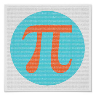 Mathe-Aussenseiter PUsymbol, -orange und -BLAU Poster