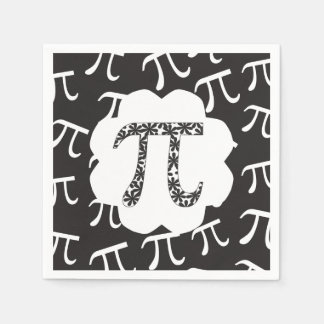 Mathe-Blumenpu-Symbol Papierserviette