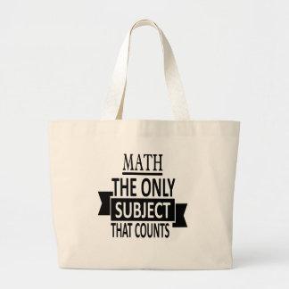 Mathe. Das einzige Thema, das zählt. Jumbo Stoffbeutel