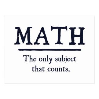 Mathe das einzige Thema, das zählt Postkarte