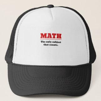 Mathe das einzige Thema, das zählt Truckerkappe