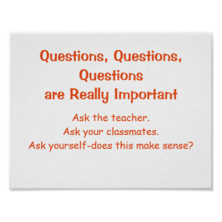 Mathe-Denkrichtungen Plakat-Fragen Poster