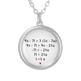 Mathe der Liebe I! Halskette Mit Rundem Anhänger