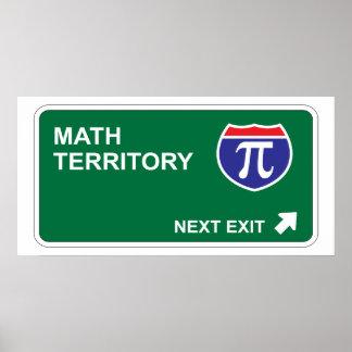 Mathe-folgender Ausgang Poster