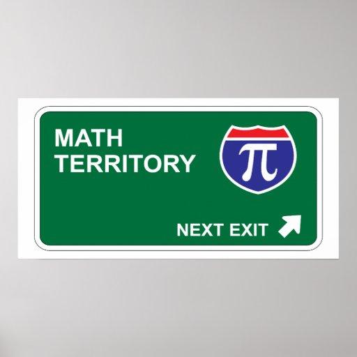 Mathe-folgender Ausgang Plakatdruck