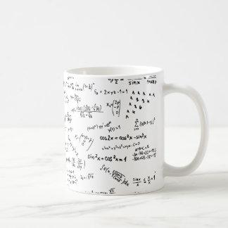 Mathe-Formeln und Zahlen Kaffeetasse