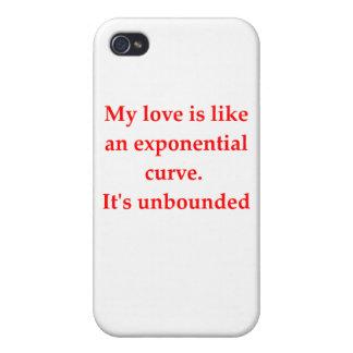 Mathe Geek-Liebe heben Linie auf iPhone 4 Hüllen
