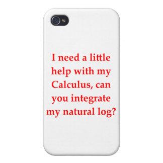 Mathe Geek-Liebe heben Linie auf iPhone 4 Etuis